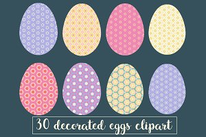 Decorated easter egg clipart