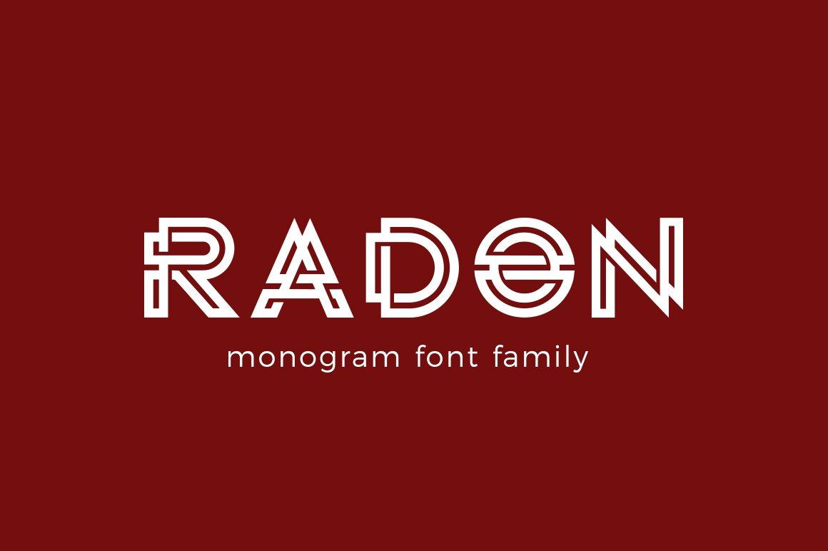 RADON monogram logo FONT ~ Fonts ~ Creative Market
