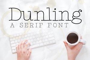 Dunling: A Handmade Serif Font