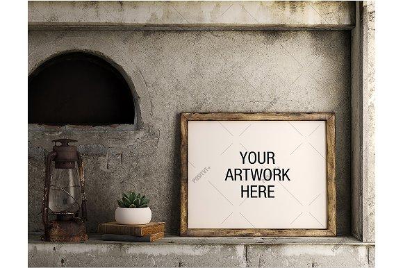 Download Poster Mockup Vintage - Landscape