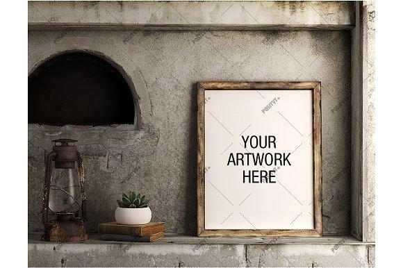 Download Poster Mockup Vintage - Portrait