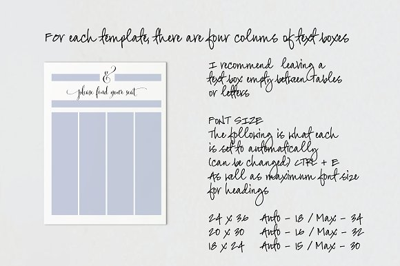 Wedding Seating Chart - Editable PDF