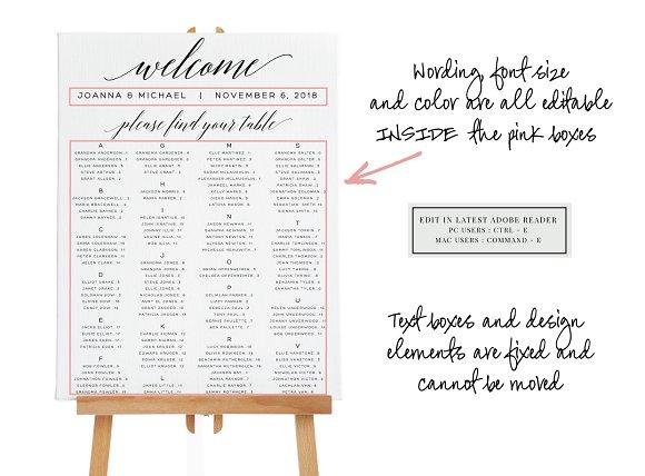 Wedding Seating Chart Editable Pdf