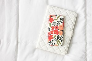 Floral Phone On White Tablet Case