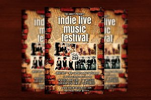 Indie Live Music Festival Flyer