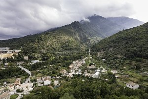 View from Corte citadel in Corsica