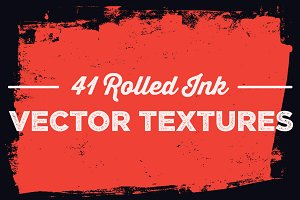 41 Rolled Ink Vector Textures