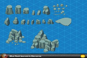 Blue Rock Isometric Elements