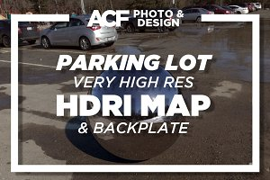 HDRI Map - Parking Lot