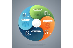 Infographics elements vector template