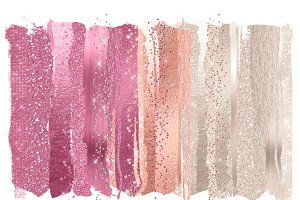 Blush Pink Glam Paint Strokes
