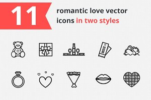 11 romantic love icons