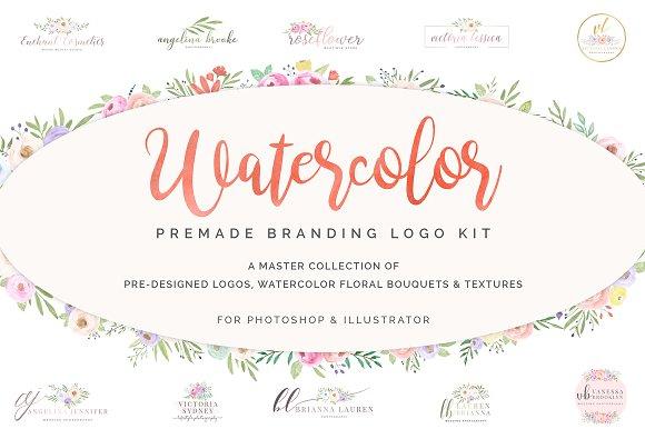 Watercolor Premade Branding Logo