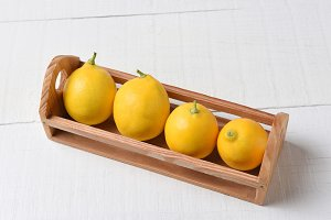 Mini Crate of Fresh Picked Lemons