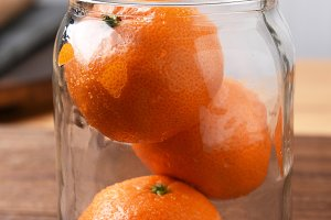 Jar of Mandarin Oranges