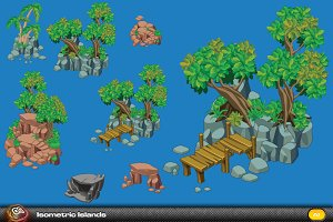 Islands Isometric elements