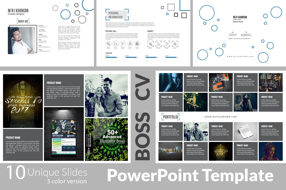 Boss cv 3 powerpoint templates presentation templates creative boss cv 3 powerpoint templates presentation templates creative market toneelgroepblik Choice Image