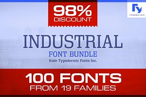 Industrial Font Bundle