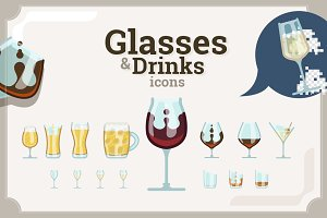Glasses & Drinks icons set (73+110)