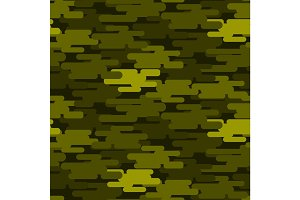 Khaki military camouflage seamless pattern army texture uniform background and clothing fashion material green soldier design vector illustration.