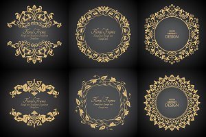 Vector decorative monogram frames