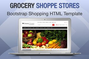 Grocery Shoppe Stores Bootstrap
