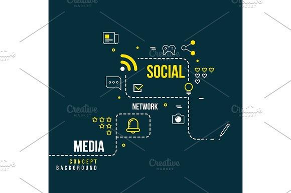 Abstract Social Community Network Interactive Media Vector Concept