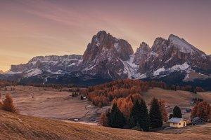 Autumn morning Alpe Di Siusi