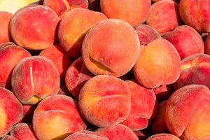 Fresh ripe yellow peaches
