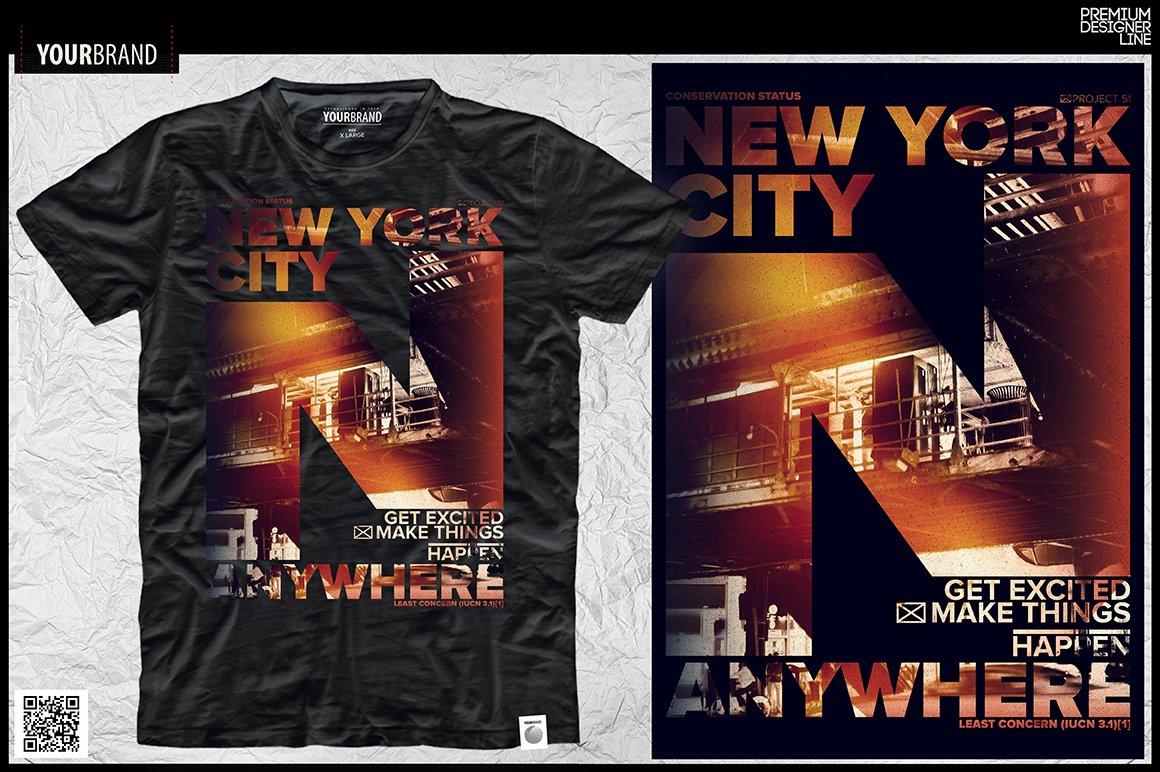New York City T Shirt Print Graphics Creative Market