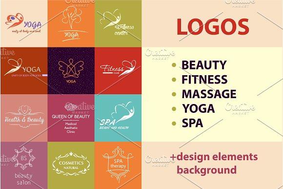 Set Logos For Beauty Sport
