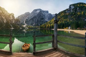 Autumn on the lake Braies TIF