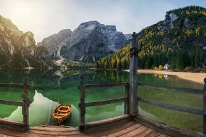 Autumn on the lake Braies