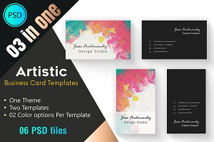 Artistic Business card Template 001