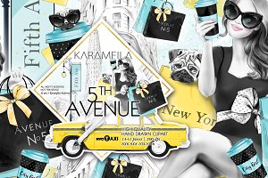 5th Avenue New York City Clipart
