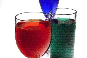 RGB colored glasses