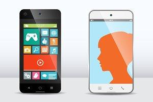 Smartphone vector mockups