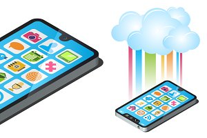 cloud computing smartphone concept