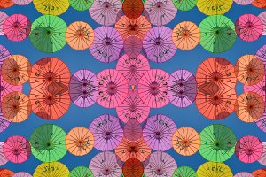 Colorful Umbrellas of Penang