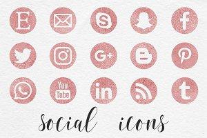 Rose Social Media Icons