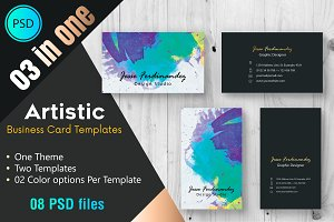 Artistic Business Card Template -002