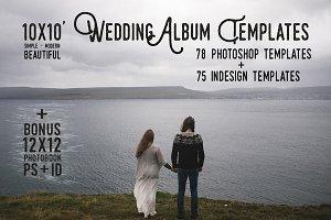 10x10 Wedding Album Templates Ps+Id