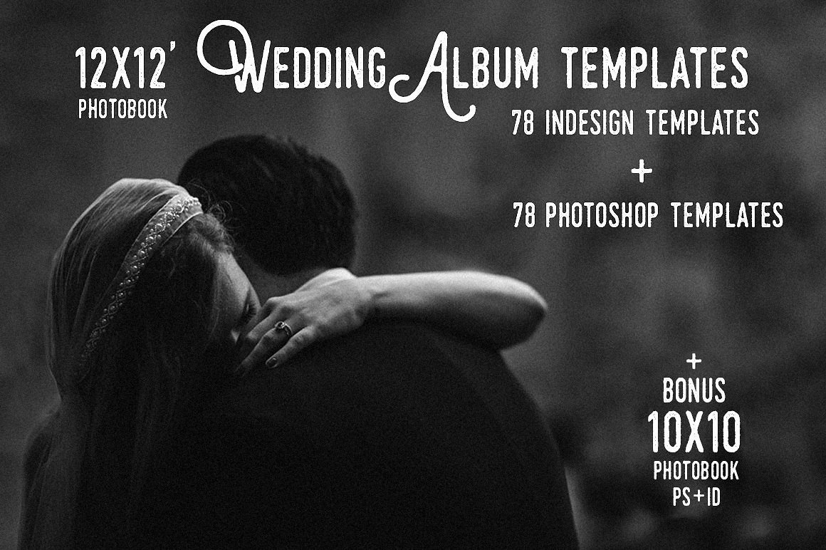 12x12 Wedding Album Templates Ps+Id ~ Magazine Templates ~ Creative ...