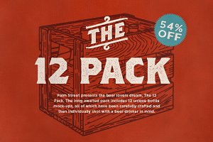 The 12 Pack - Bottle Mock-Ups