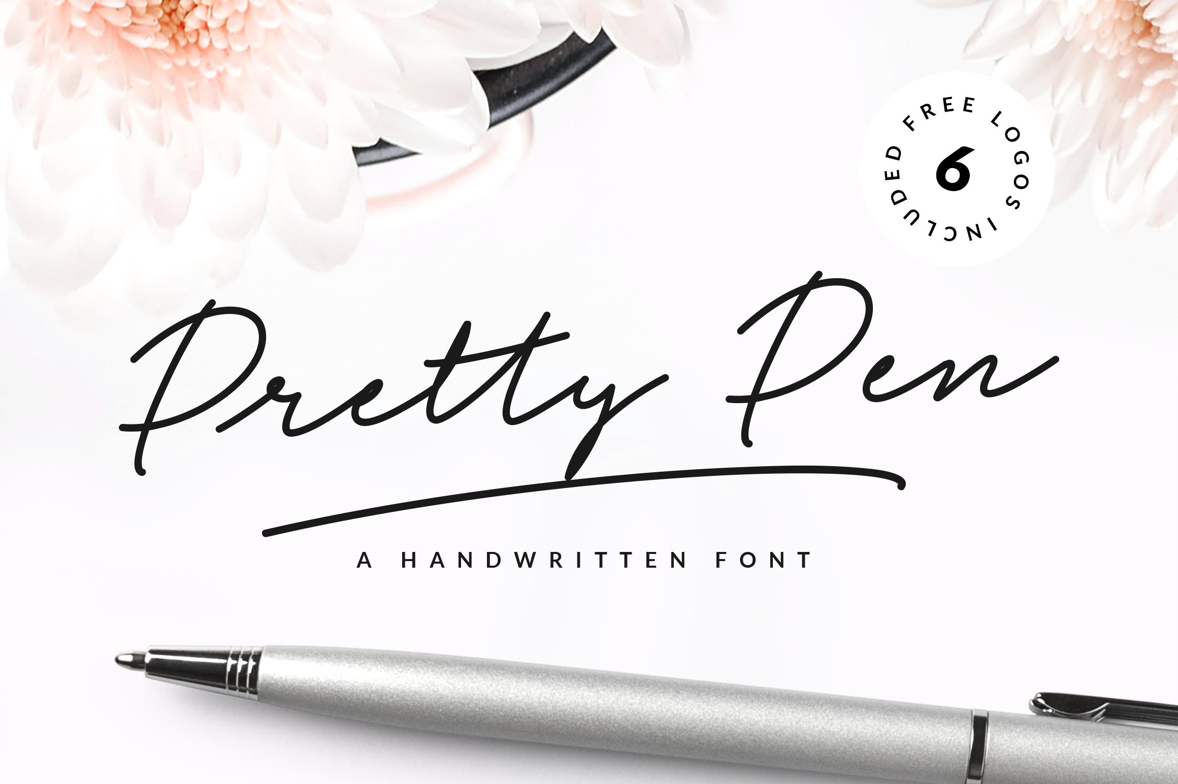 Pretty pen handwritten font script fonts creative market Handwriting calligraphy