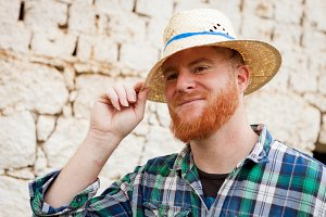 Attractive red haired man