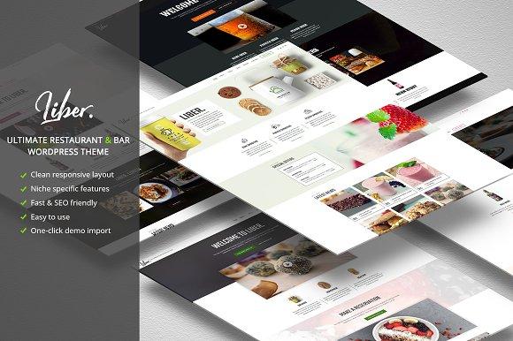 Liber Restaurant/Bar WordPress Theme