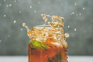 Summer cold Iced tea