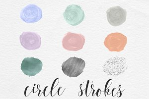 Brush Circles Elements - Pastel