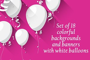 Colorful backgrounds with balloons